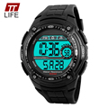 TTlife 1203 Men Sports Watch Waterproof Chronograph Military Relogio Masculino Fashion Outdoor Mens Sport Digital Wristwatches