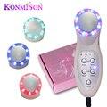 Komison photon ultrasonic 7 led luces de sonic limpiador de la piel removedor de arrugas lifting facial lift ultrasonido masajeador belleza facial