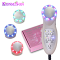 Komison photon ultrasonic 7 led luzes de sonic cleaner removedor do enrugamento da pele levantamento face lift ultrasound beleza facial massager