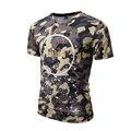 2017 Nova Camuflagem Camisa Dos Homens T-shirts 3D Estrela Bandeira Floral Coqueiro Rose Crânio Impresso T Camisa Hombre Poleras