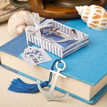 Wedding giveaways for guest -- nautical themed anchor bookmark  party favor gifts 100 pcs/lot