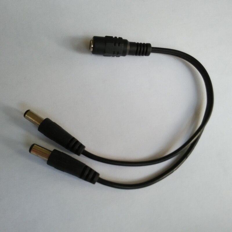 Gakaki 100Pcs 2 1 5 5mm Cctv Dc Power Supply 12V Pigtail 1 Female To 2