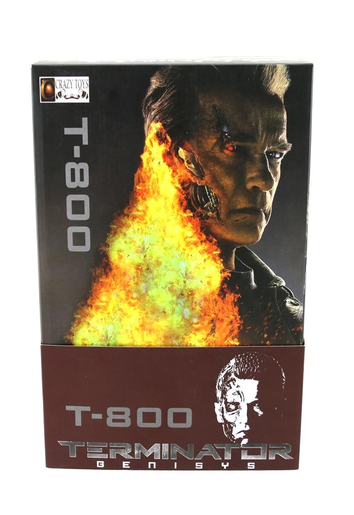 Hot Sale Sci-Fi The Terminator Genisys  Schwarzenegger T-800 Battle Damage Ver. Figurine Crazy Toys 31CM Action Figure hot george taylor charlton heston space suit classic 1968 sci fi film planet of the apes neca 20cm figure toys new box