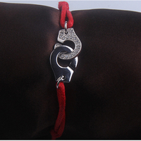 France Paris Jewelry Real 925 Sterling Silver Handcuffs Bracelet For Women Men Adjust Rope Wedding 925