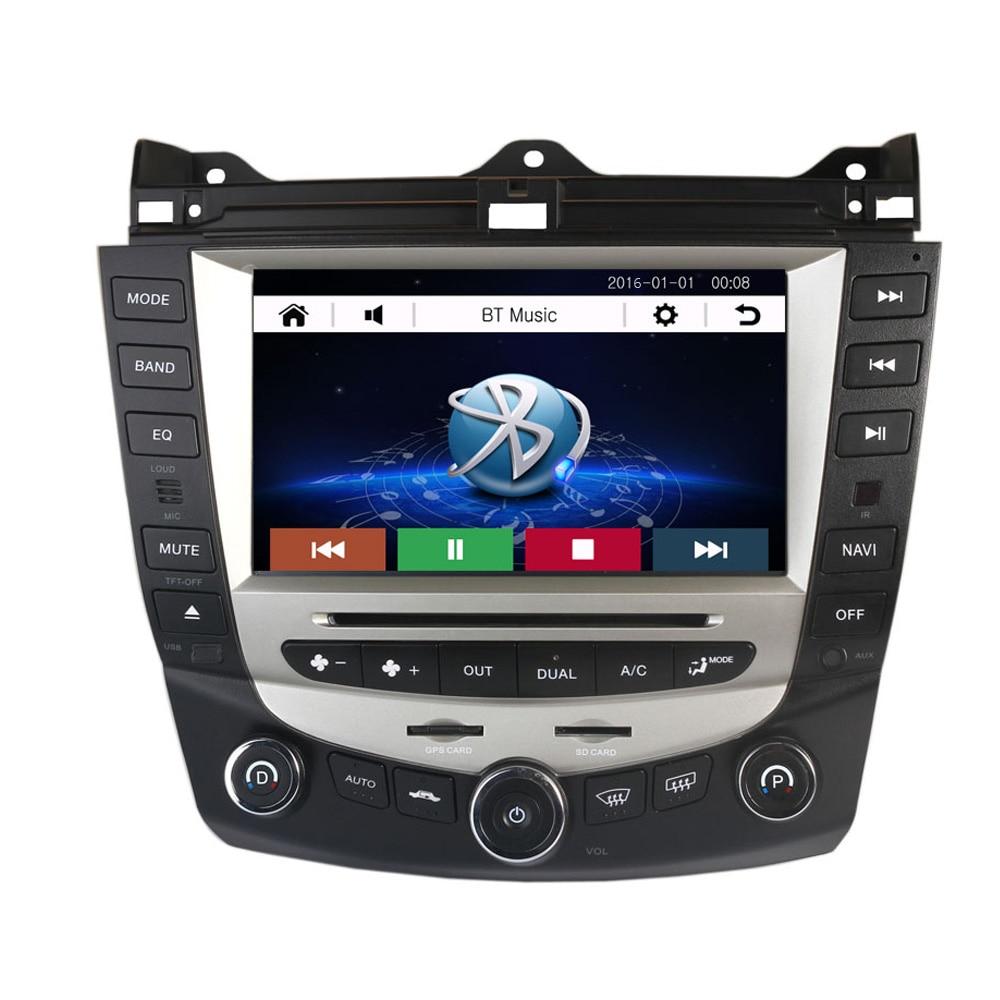8 inch car dvd player gps navigation for honda accord 2003 2004 2005 2006 2007 single