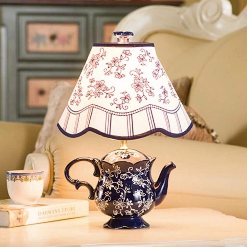 Здесь продается  NEW Creative Modern Colorful Chinese Ceramic Led E27 Table Lamp for Living Room Bedroom Bar Decor H 39cm 1756  Свет и освещение