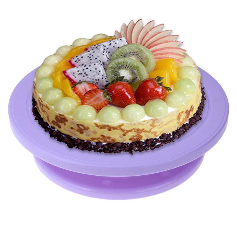 Turntables Bakeware Mini Cake Plate Revolving Platform Turntable Round Rotating Swivel Baking Cute Cake Tool Bakeware Fondant Cupcake Decorating Complete Range Of Articles
