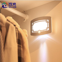 GILLSON Light Motion Sensor PIR LED Night Light Wireless Porch Night Wall Lamp For Closet Cabinet