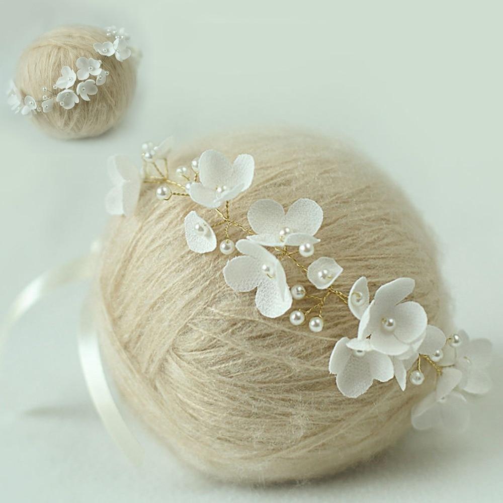 ručně vyrobená baby čelenka, novorozenec čelenka, perlový - Oblečení pro miminka