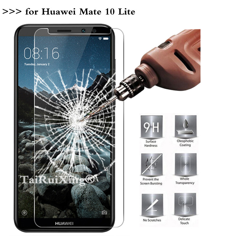 No Retail Package Tempered Glass Film Wangl Mobile Phone Tempered Glass Film 50 PCS 0.26mm 9H 2.5D Tempered Glass Film for Huawei Honor 9i