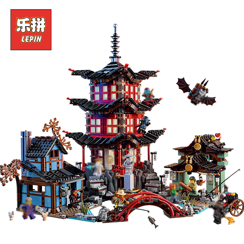 Lepin Ninja City Movie Temple 06022 06058 06066 Masters of Spinjitzu Compatible 70751 70620 70617 Building Brock Brick Model Toy