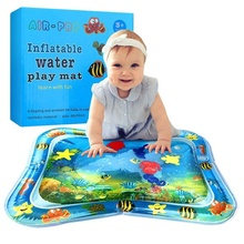 Kids Inflatable Tummy Time Premium Water Mat Infants & Toddlers Is The Perfect Fun Play Activity Center Your Babys Stimula