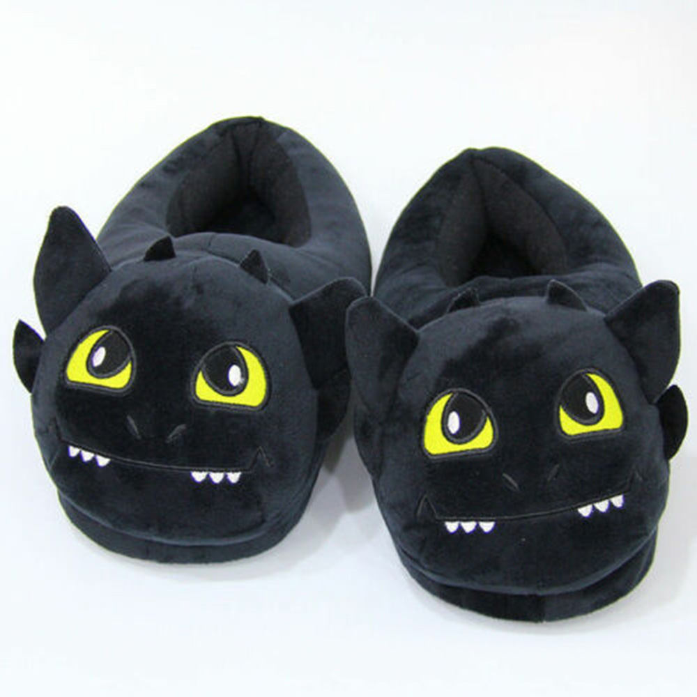 How To Train Your Dragon Plush Slipper Night Fury Toothless Stuffed Slipper Winter Indoor Warm Shoes Cosplay Props