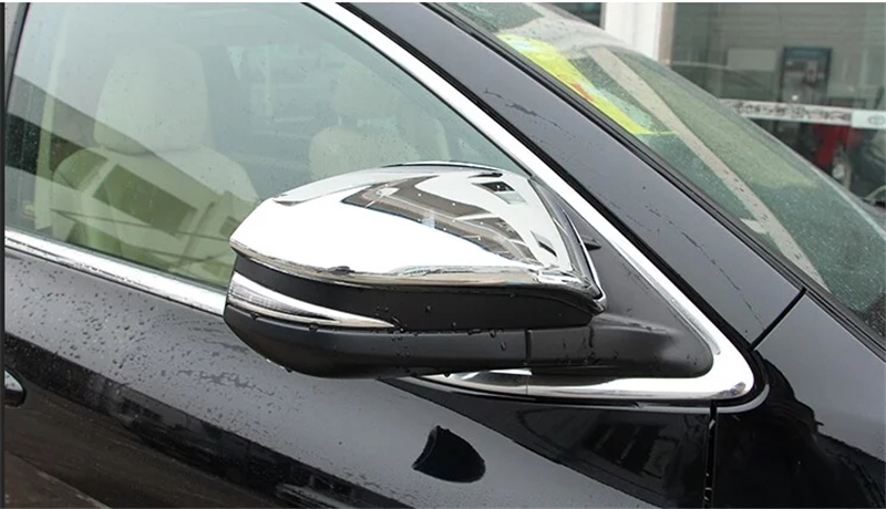 For 2014 2015 Toyota Highlander Kluger XU50 ABS Chrome Exterior Side Door Mirror Rear View Cover Garnish Trim Auto Accessories