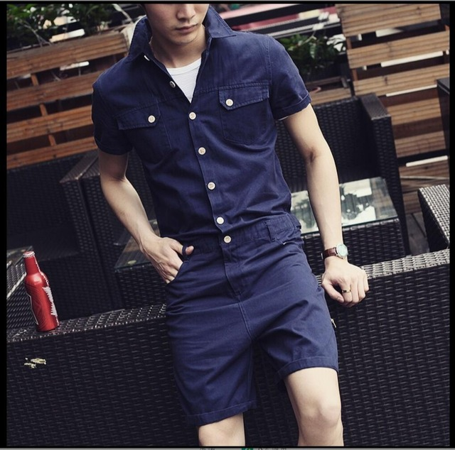ca6b1be95d6 HOT 2019 New men and women overalls Siamese pants casual Slim sleeve solid  color leotard men s jumpsuit costumes