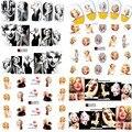 Jiji de Uñas de Moda 1 Hojas Mixta Sexy Marilyn Monroe Nail Art Water Sticker Decal Para Nail Agua A481-492