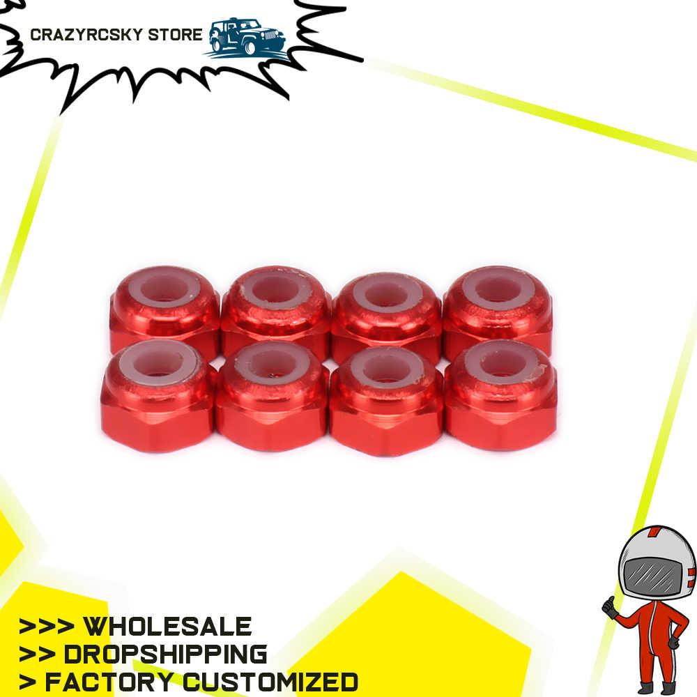 8 Pcs 3 Mm Lock Nut untuk 1/18 Revel 24540 Scorch Hobbico Dromida BX/MT/SC4.18 Kursus Singkat truk Rakasa Kereta Off-Road Besar Kaki