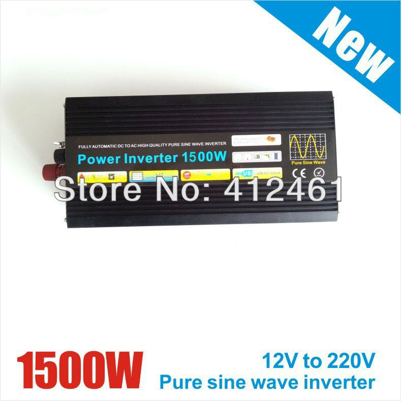 цена на 1500w inverter pure sine wave max 1500w power DC12V/24V AC100V-240V 50Hz/60Hz for solar wind home use