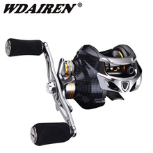 Right/Left Fishing Reel 18+1BB Ball Bearings carbon Baitcasting Reel 6.3:1 Carp Fishing Coils Gear 198g Saltwater Fishing стоимость