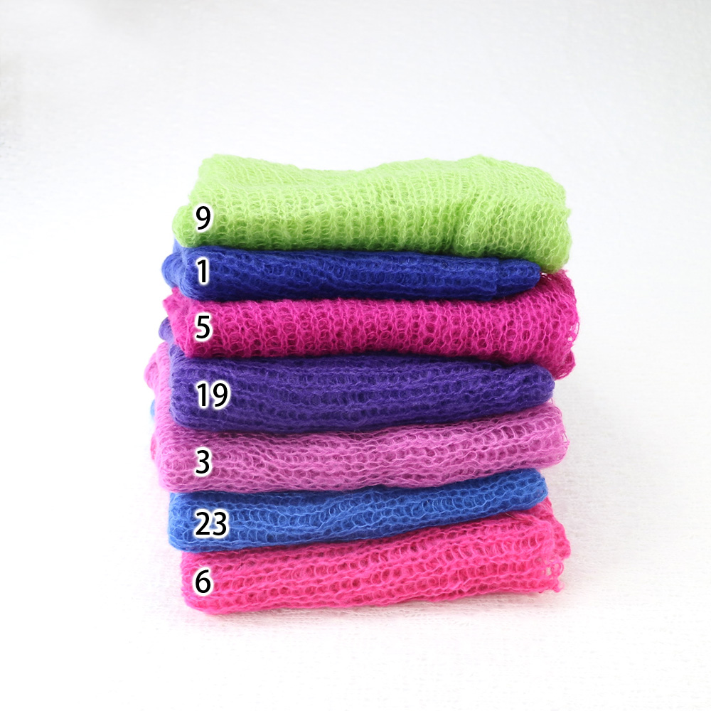 Clearance (150*50cm) Acrylic Mohair  Wraps 5 pcs One Lot Mix Color Newborn Photography Wraps Baby Shower Gift  Newborn Props