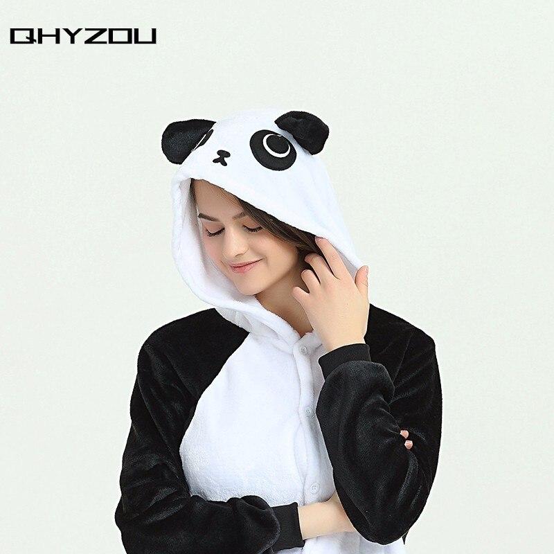 Kawayi Black KungFu Panda Onesie Women Unisex Onsie Fancy Pyjamas Sleepwear Kigurumi Paj ...