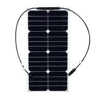 18V 25W flexible solar panel mono module 12V battery USA solar cell MC4 connector solar panel charger solar battery