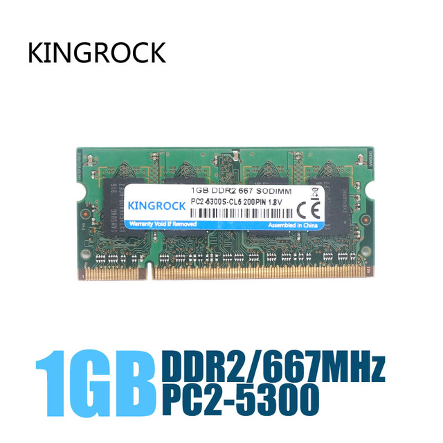 KINGROCK New Sealed DDR2 667 / PC2 5300 1GB Laptop RAM Memory / Lifetime warranty / Free Shipping!!!