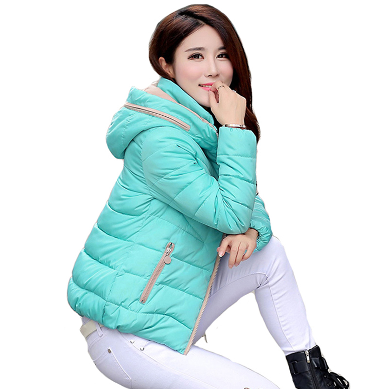2019 hooded women winter warm short   basic     jacket   candy color stand collar coat womens plus size jaqueta feminina inverno