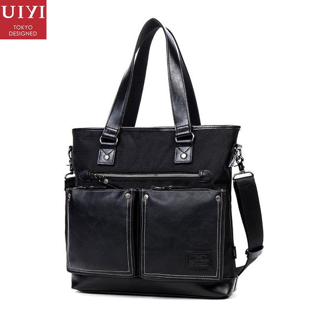 ee1dcb4f6c UIYI Shoulder Messenger Bags Men Briefcase Male Casual Handbag PU Leather  Polyester Man Tote Bag For. Mouse over to zoom in