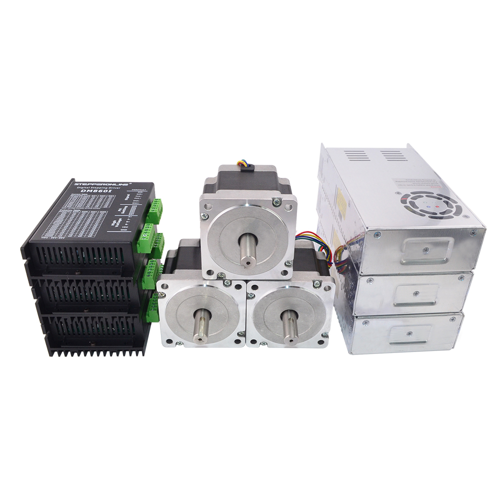 3 assi CNC Kit Router 4.5Nm (637oz. in) Nema 34 Motore Passo-passo e Driver