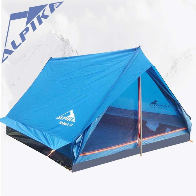 ALPIKA 2015new pattern 2persons single layer ultralight outdoor camping tent against s wind