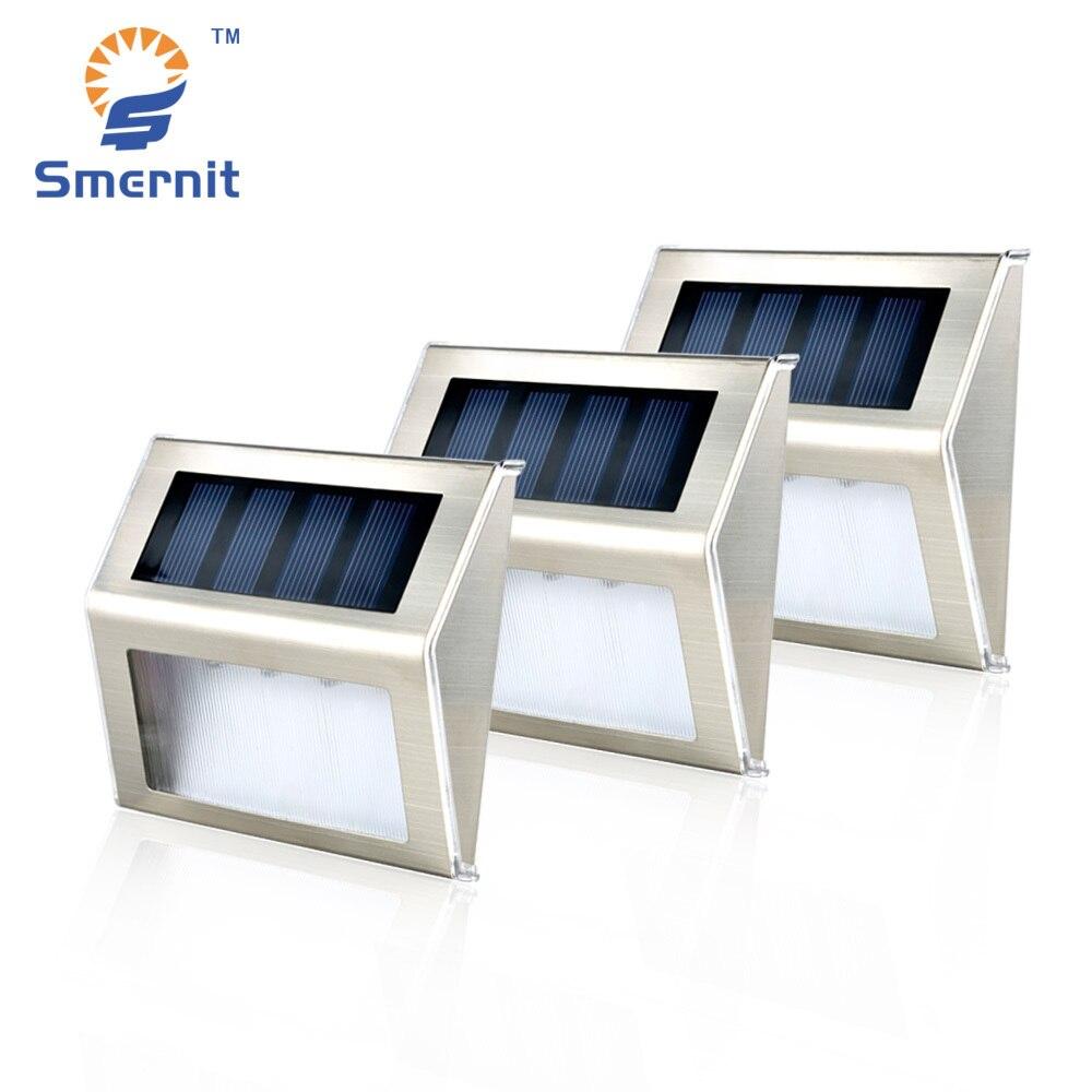 10 pièces Solaire Étape Lumières LED Solaire Propulsé Escalier Lumières Éclairage Extérieur pour Étapes Chemins Patio imperméable formant Pont Solaire Lumières