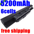 5200 mah batería del ordenador portátil a32-k53 para asus a43e a53s k43e k43u k43s X84 X54 X54C X54H K43SJ K53S K53SV K53T K53 K53E K53SD X44H