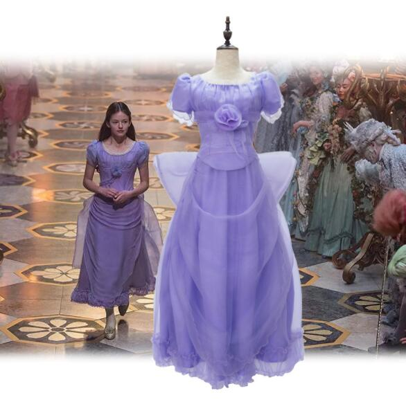 The Nutcracker And The Four Realms Women Clara purple dress Princess Mackenzie Foy fancy dress costumes