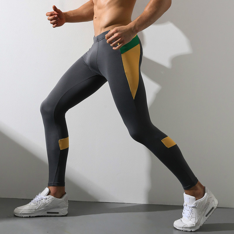 Sport Tight Pant Men Pro Basketball Fitness Training Jogging Leggings Running Compression Pants Fitness Quick-drying Sweatpants цена