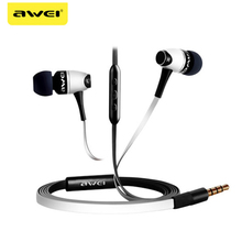 Awei 80VI Earphone Sport Stereo earphones Headset In-ear Earphone Noise Cancelling For Phone new xduoo ep1 stereo in ear earphone dynamic driver headset noise cancelling headphone hifi subwoofer music mobile earphones