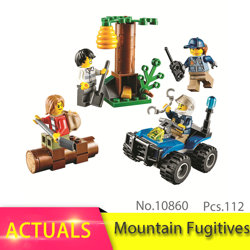 Legoing City Series 112pcs 60171 The Mountain Fugitives Model Building Block Brick set Toy For Children Birthday Gift