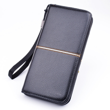 SUONAYI Male Leather Purse Mens Clutch Wallets Handy Bags Business Carteras Mujer Men Black Brown Dollar Price