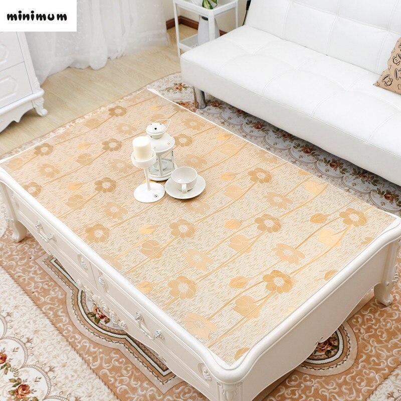 European Luxury PVC Bronzing Tea Tablecloths Rectangle
