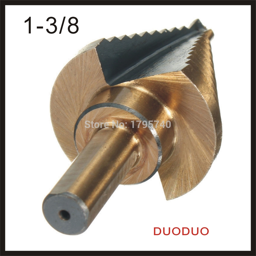 1PC 1/4 to 1-3/8 Hss Cobalt Large Step Drill Bit Power Tools Universal Shank Mul Tiple Hole For Metal Plastic Fiberglass Best