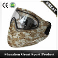 Comfortable and Soft Rubber GREAT Paintball Mask or Airsoft Mask with DYE I4 Double Lens Goggle