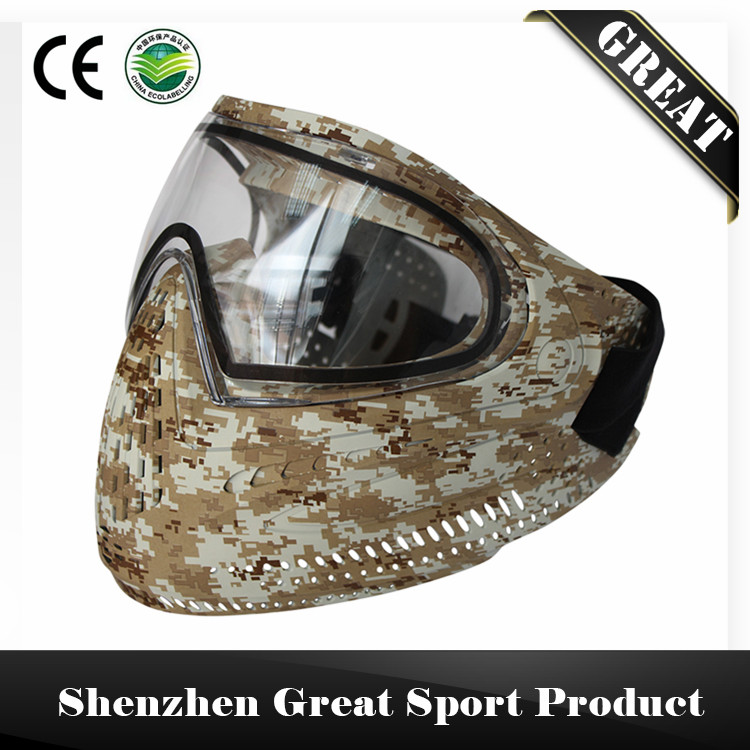 Prix pour Confortable GRAND Paintball Masque ou Airsoft Masque avec COLORANT I4 Double Lentille Lunettes Made in China