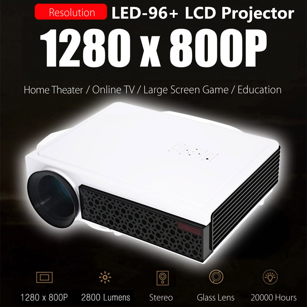 Original AAO LED-96 + Plus LCD Projector Android 2800 Lumens 20000 hours 1280 X 800 Pixels 1080P Full HD Media Player HDMI USB(China)