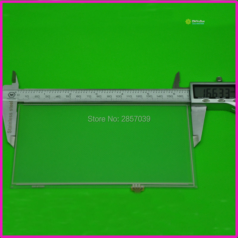 167mm*93mm this is compatible NEW 7inch 4 line For Car DVD touch screen panel   167*93 TouchSensor FreeShipping