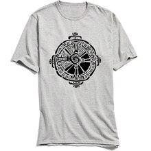 Hunab Ku Tshirt All Cotton Men Gift T-shirts Birthday Special Geometric Designer Clothes O-Neck TShirt Short Sleeve Wholesale