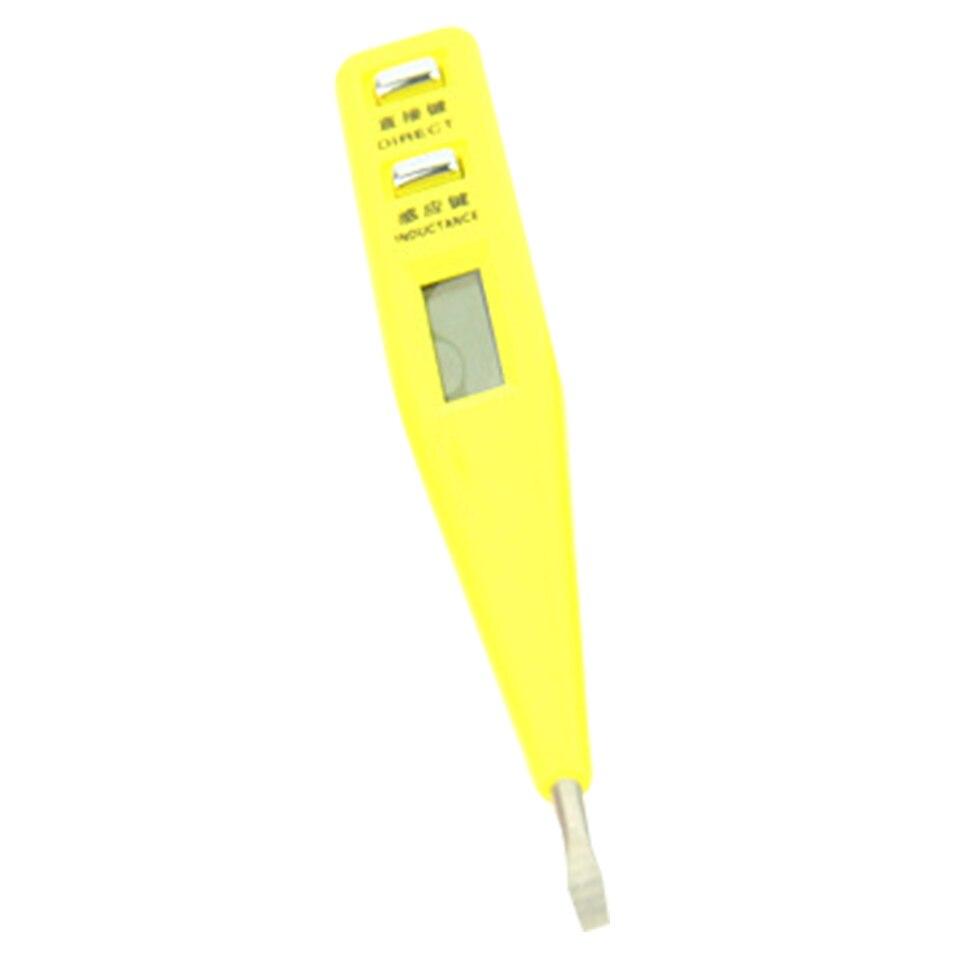 Penna di prova digitale multifunzione AC DC 12-250V tester display LCD elettrico rilevatore di tensione penna di prova per elettricista-arancione e nero senza luce