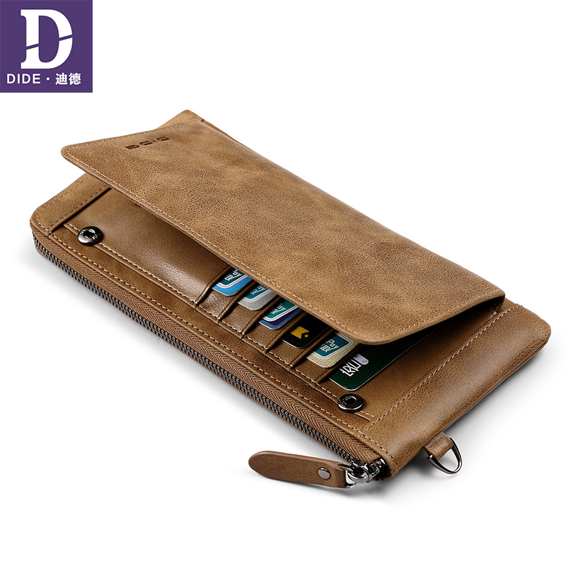 DIDE Male Wallet Travel Purses Card-Holder Coin Long Clutch Business Men