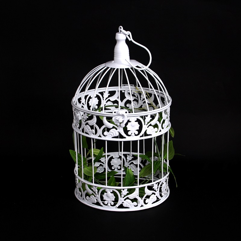 15 PCS Gold Pink White BirdCage Set Wedding Decoration With Crystal Vintage Cupcake 3 Tier Metal cake stand in Stands from Home Garden