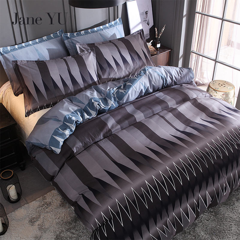 JaneYU Hot bed suite abstract grid geometric quilt Duvet Cover Stes 2  3pcs bedding sets