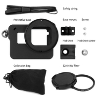 JMFOTO Aluminum Alloy Protective Case for GoPro Hero 6 Black Action Camera with UV Filter Mount Frame for Go Pro 6 Accessory